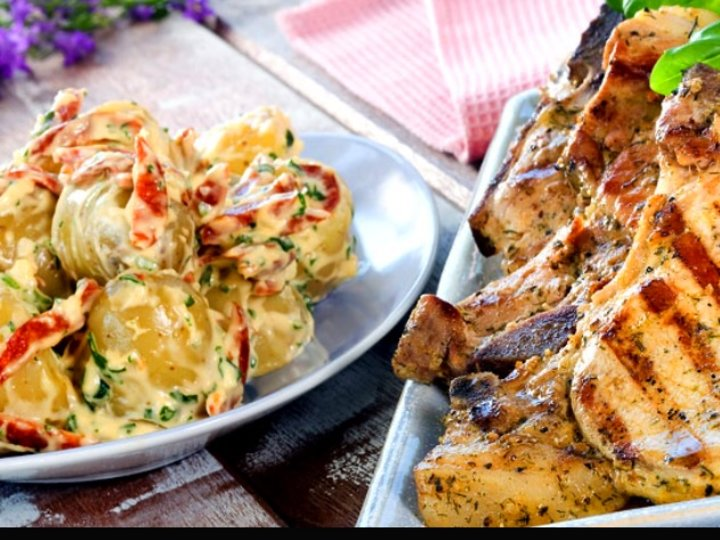 Potet- og Aiolo salat med Chilli og Chorizo