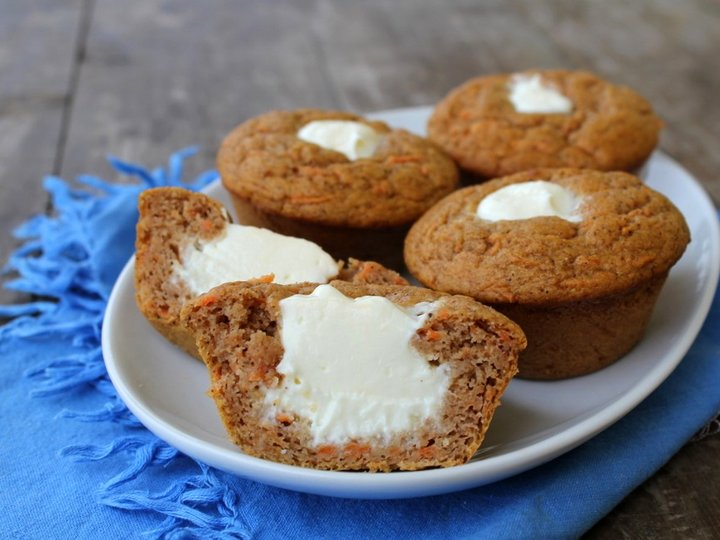 Sukkerfri og saftige gulrotmuffins