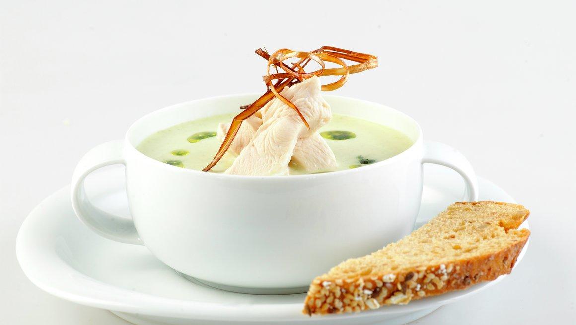 Kremet kyllingsuppe med ramsløk