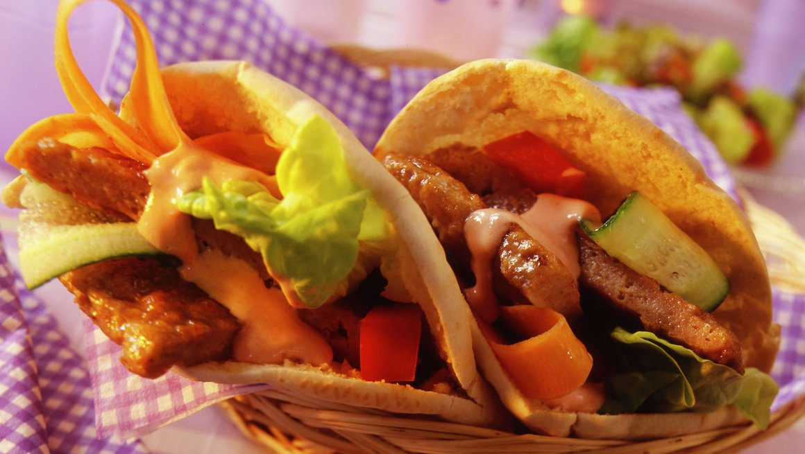 Kalkunburger i pitabrød