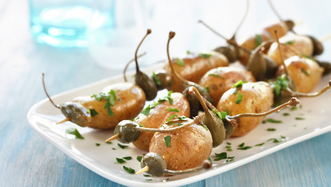 Stekte poteter på spyd