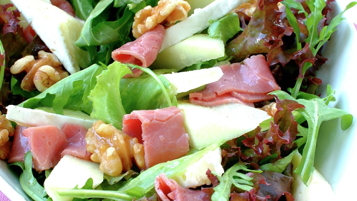 Salat med salt storfekjøtt
