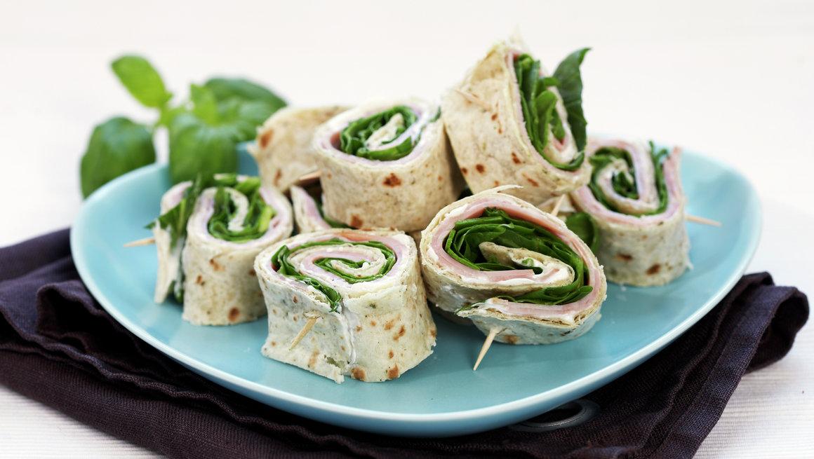 Bilderesultat for spinat og skinkewraps