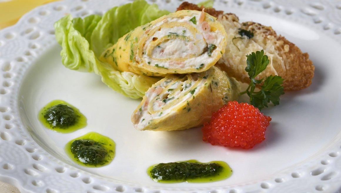 Omelettrull med laks