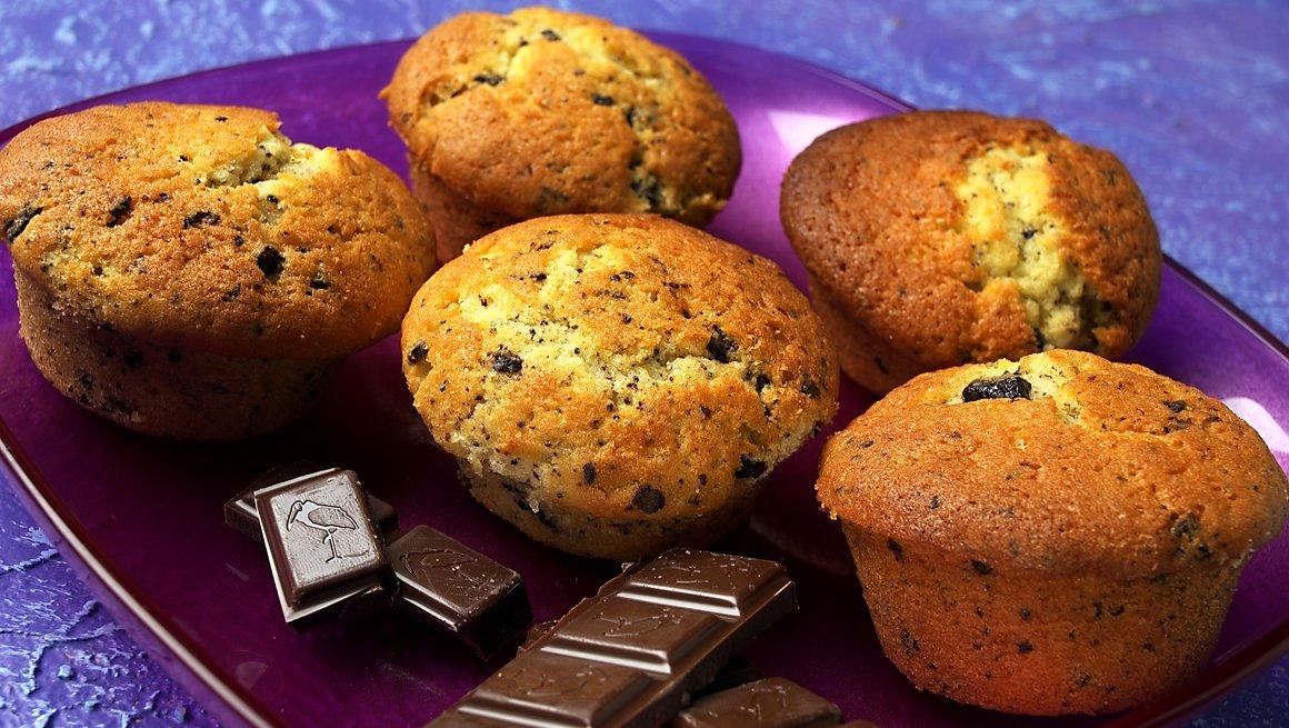 Muffins med sjokoladebiter