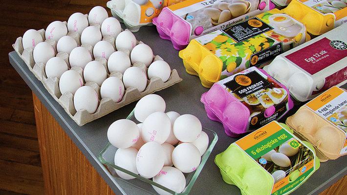 Pakninger av egg
