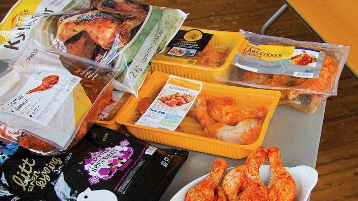 Pakninger av kyllinglår
