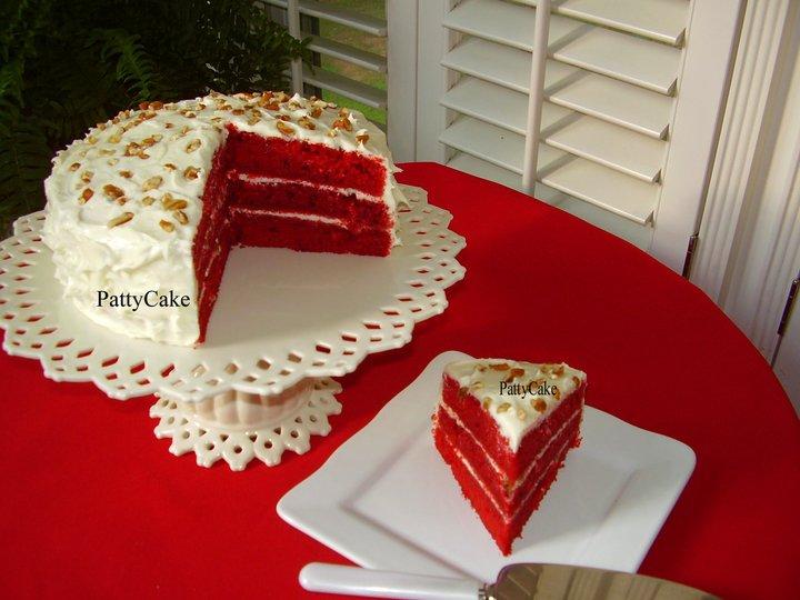 Red velvet-kake