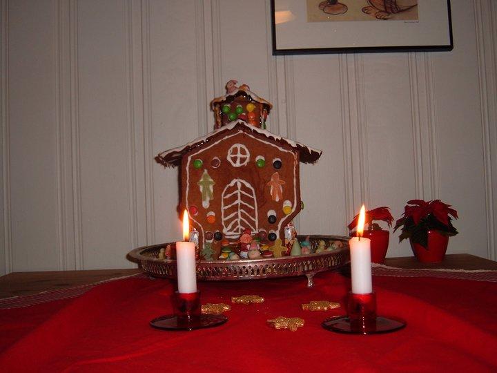 Ann-Jeanettes julekake med sukat og rosiner.