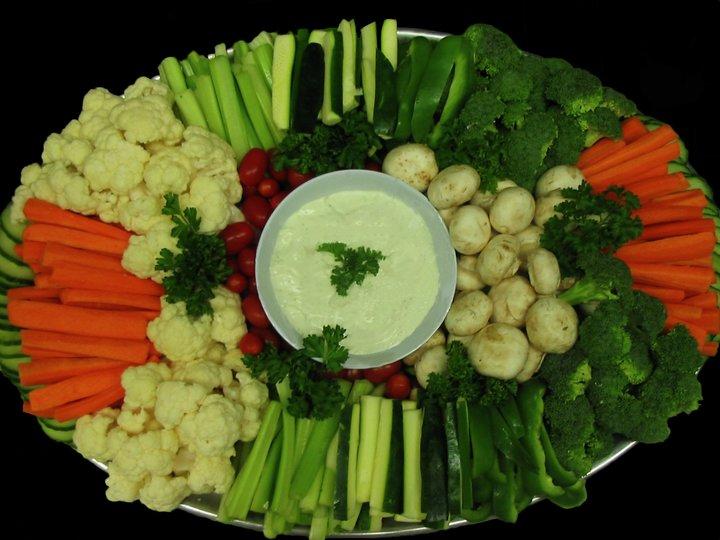 Grønnsaker med dip