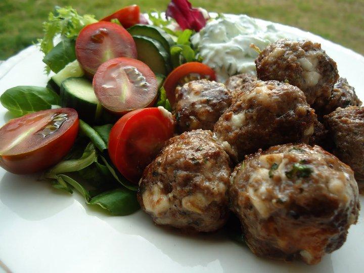 Greske kjøttboller og Tzatsiki
