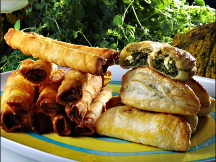 Butterdeig med spinat og feta