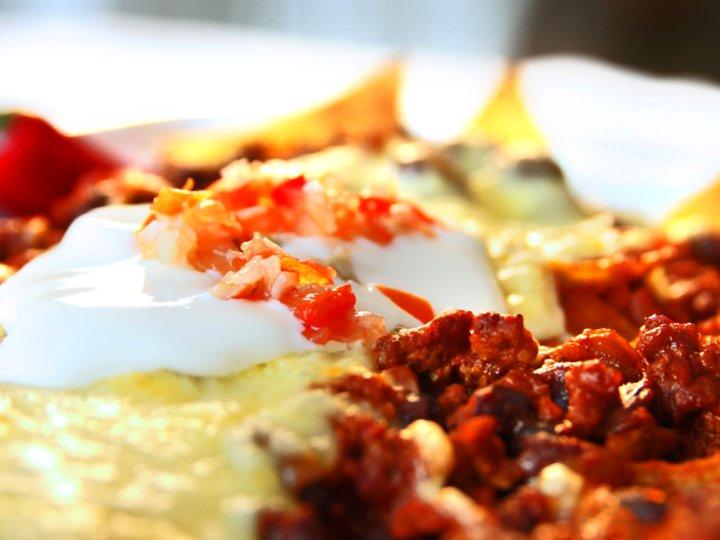 Nachos med kjøttdeig og ost
