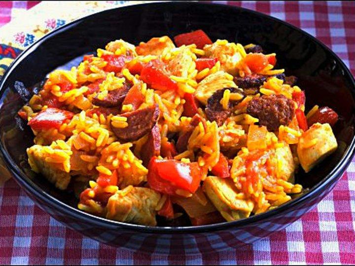 Spansk ris med chorizopølse
