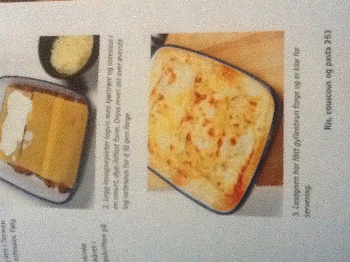 Lasagne med kjøtt- og ostesaus