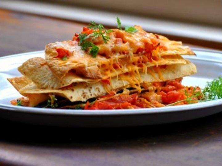 Tortilla-lasagne med kylling