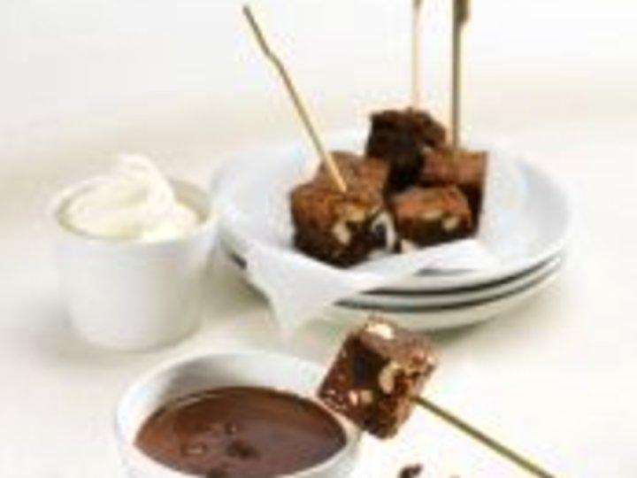 Brownies med daim-dip