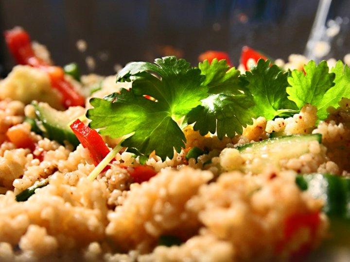 Couscous med friske grønnsaker
