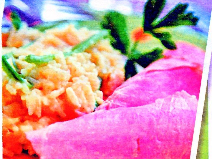 Kokt sommerskinke med rask risotto