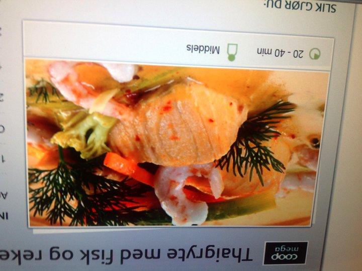 Thaigryte med Fisk og reker