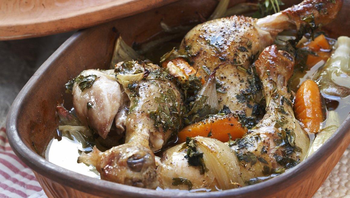 Leirgrytebakte kyllinglår