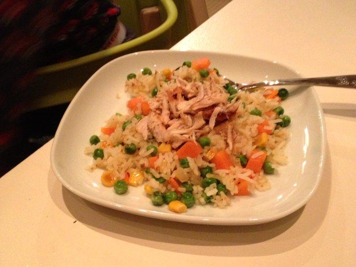Kylling med grønnsaksris