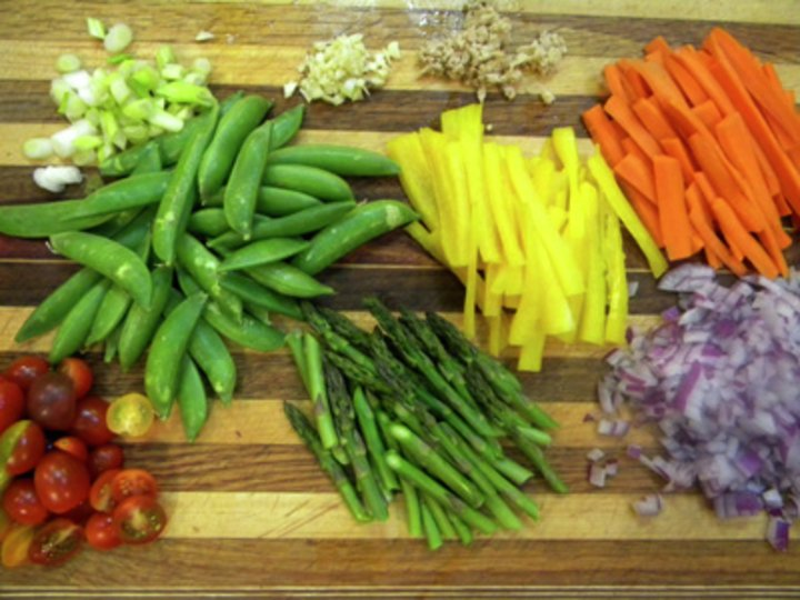 Grønnsaker i ingefærsaus