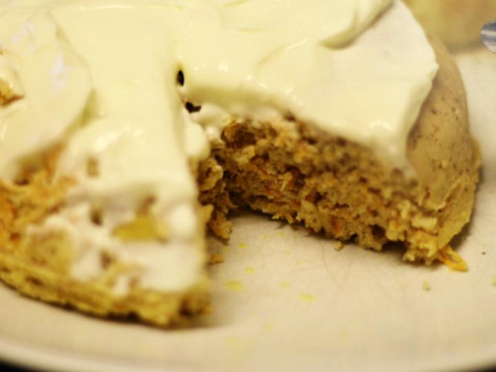 Mikro gulrot kake