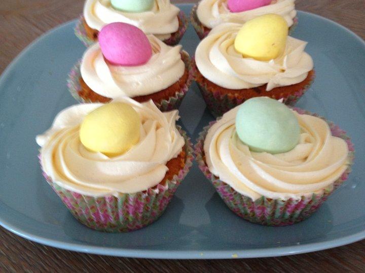 Påskeegg cupcakes