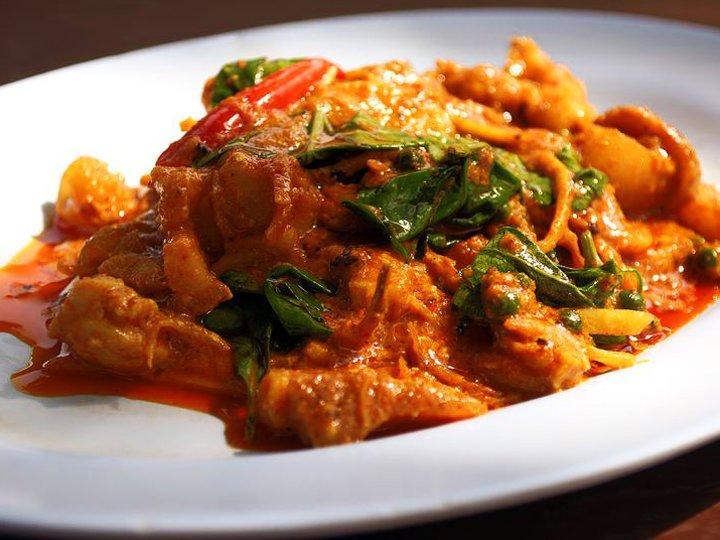 Kylling i rød curry