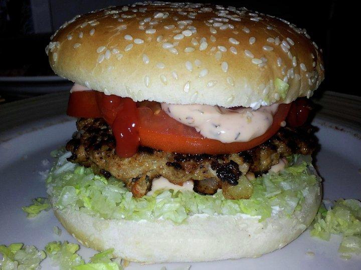 Hjemmelaget Chiliburger