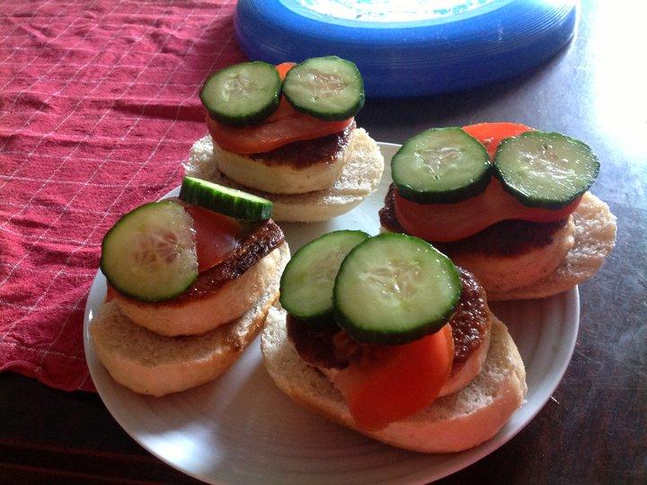Fiskekake-sandwich