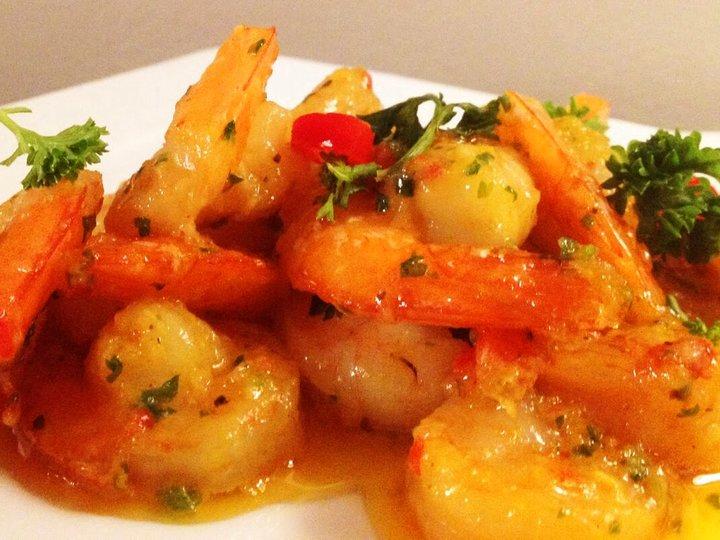 Chilimarinerte Scampi