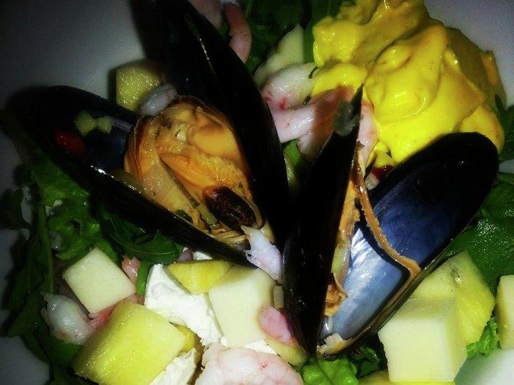 Blåskjell salat
