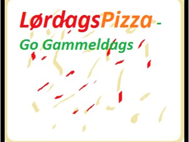 Pizza -Lørdagspizza go gammeldags