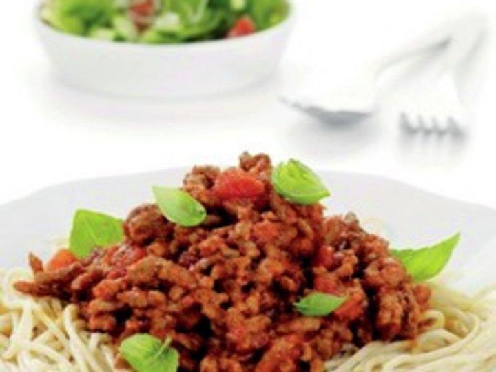 Fullkornspasta med kjøttsaus - Grete Roede