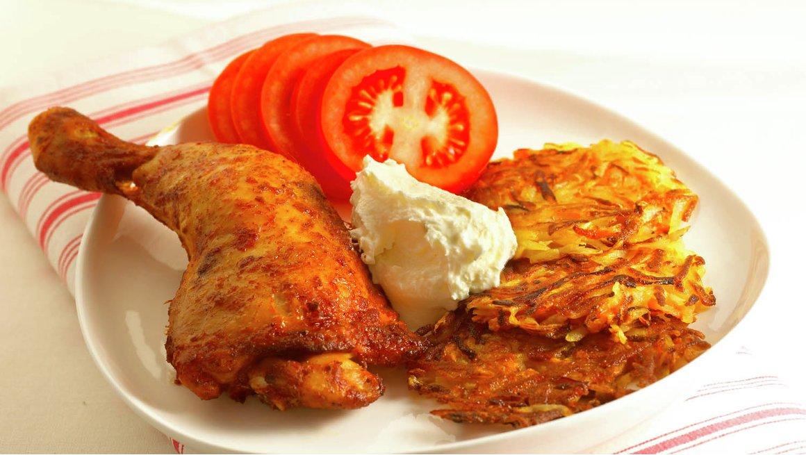 Kyllinglår med potet- og gulrotrøsti