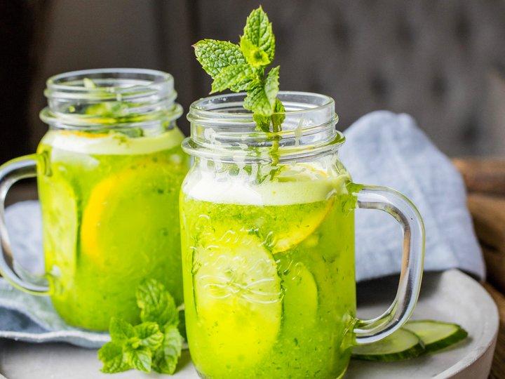 Gin med agurk og mynte