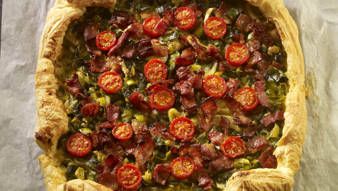 Bacon-, purre- og osteterte
