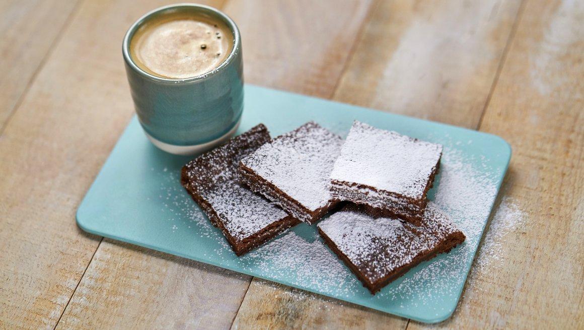 Brownies med to ingredienser