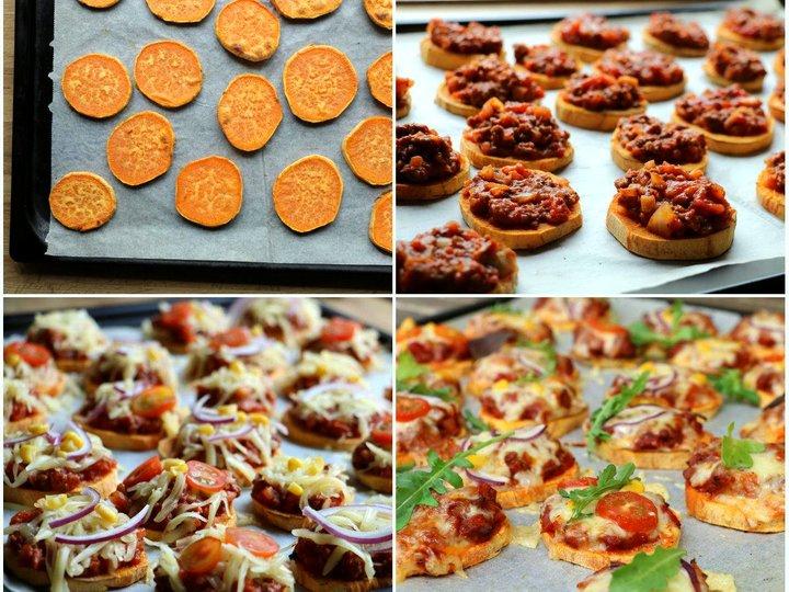Søtpotet minipizza