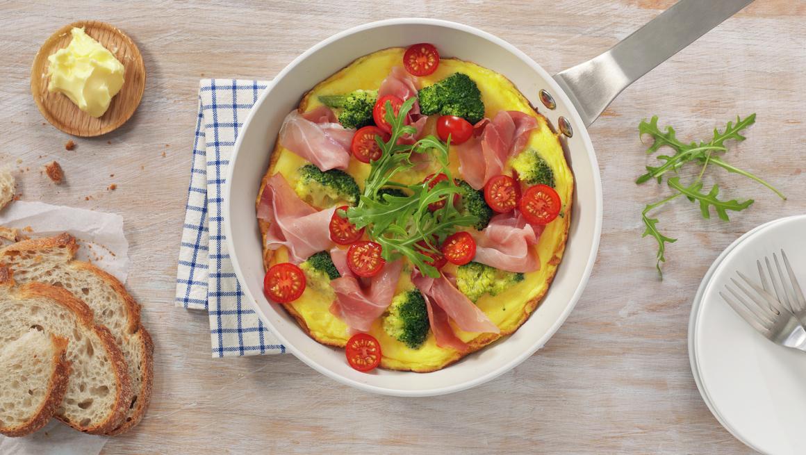 Eggepanne med brokkoli