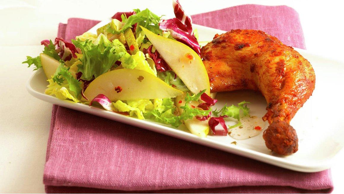 Kyllinglår med superenkel salat