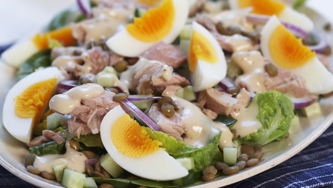 Egg- og tunfisksalat