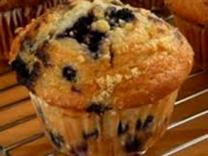 Blåbær/solbærmuffins