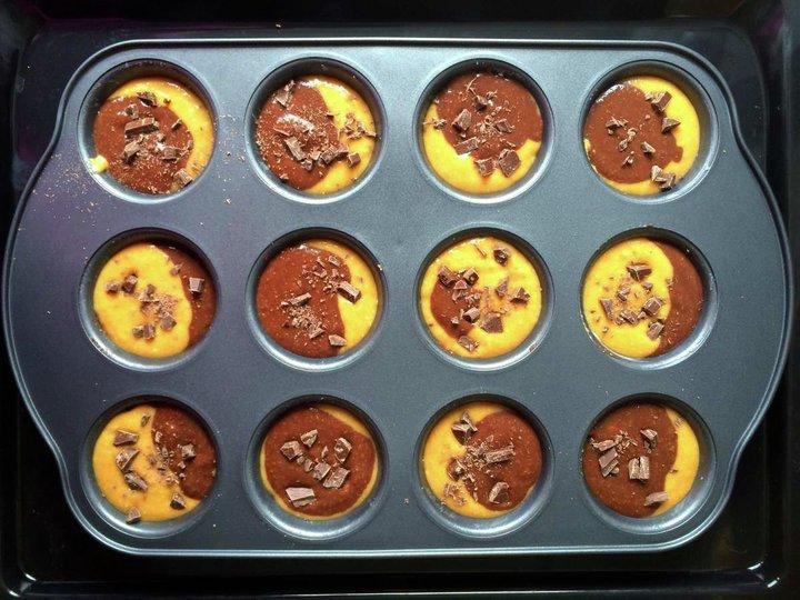 Søtpotetmuffins med sjokolade