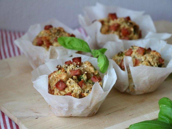Proteinrike matmuffins med ost & skinke