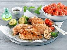 Grillet kyllingfilet med vannmelonsalat