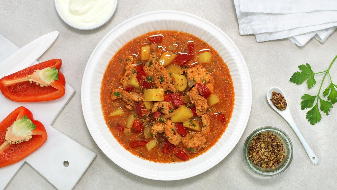 Kyllinggryte med paprika og sennep