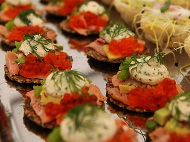 Hors d'oeuvres med laks